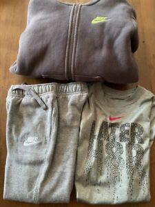 nike boys size 7 fleece jacket/pant and t-shirt lot of 3