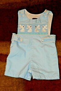 Lil Cactus Bunny  Short All One Piece 3-6m Smocked