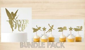 BUNDLE PACK! Never Grow Up Cake Topper + Peter Pan & Friends Cupcake Toppers