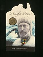 2012  Uncirculated carded $1 Coin.  Inspirational People - Douglas Mawson