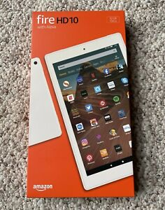 "BRAND NEW Amazon Fire HD 10 (10.1"" Tablet, 32GB, White, Latest Version 9th Gen)"