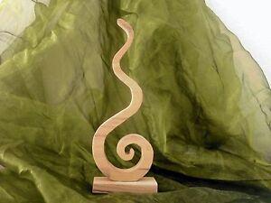 Deko Skulptur Nr 7 Holzbild massiv aus Buche Holz Dekoration Wohnzimmer Neu
