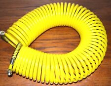 """50 Ft Br Tools Recoil Air Hose 1/4"""" 50' 200 Psi Standard Fitting Spring Guards"""