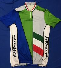 Vtg F. Moser Italian Made In Italy Bike Cycling Velo Jersey Size 3 / M