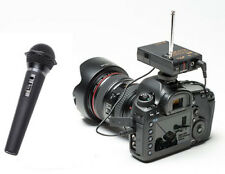 Pro 5D WHM wireless handheld microphone for Canon EOS R 5DS 5DSR II Mark IV 1D X
