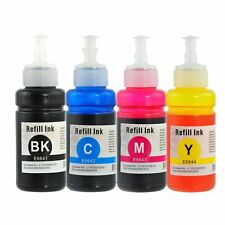 Set of 4 Refill Ink Kit 70ml for Epson T6641 L100 L200 L300 L550 T664120 T664