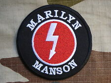 ECUSSON PATCH toppa aufnaher THERMOCOLLANT MARILYN MANSON usa rock /Diam 7.4 cm