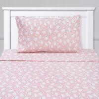 Llamas Kids Sheet Set Pink White Twin, Twin XL, Full
