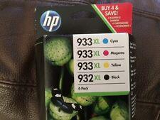 HP INK 932 AND 933 xl 4 PACK BNIB GENUINE