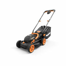 Worx 40 Volt 14 Inch Electric Lawn Mower with Mulching and Intellicut (Open Box)