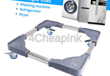 Adjustable Washing Machine Stand with 4 Locked Swivel Wheels Movable Portable.