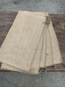 "New Lot of 5 Burlap Bags 26"" x 14"" Medium / Large Size Jute Tie Sack Sand Gunny"