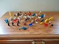 """Vintage Mixed Lot Of Over 40 Plastic Playset Animals,Other Misc."""" GREAT LOT """""""