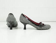Steve Madden 5.5 Black & White Houndstooth Mary Janes Women's