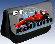 PERSONALISED BOYS F1 RACING CAR PENCIL CASE GREAT XMAS GIFT / ANY NAME PRINTED