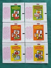 RARE DANDY GUM WAX WRAPPERS-FUNNY FIGURES-SET OF SIX