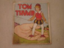 1930's Vintage Tom Thumb Fairy Tales linen Book RA Burley # 430 Made in USA