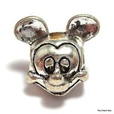 'MICKEY' Silver Plated Cartoon Mouse European Charm Bead