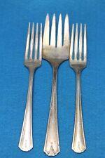 Nice Lot Of 3 Matching Vtg S.L. & G.H.R. Co. Forks 1 Serving / 2 Dinner 124.0g