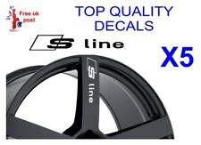 5 X AUDI S-LINE AUDI ALLOY WHEEL Decals  sticker