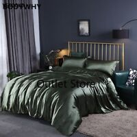 Mulberry Ice Silk Bedding Sets Bed Linen Comforter Cover Sets
