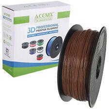 Acenix ® Marrón PLA filamento de impresora 3D 1.75mm 1KG filamento de carrete para impresión 3D