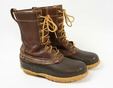 LL BEAN Brown Leather Vintage 60s Maine Hunting Shoe Duck Boots Women 8 or 9
