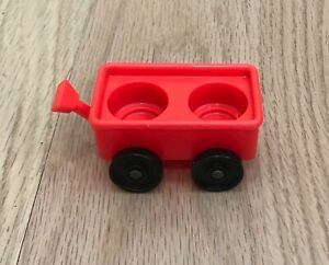 Vintage Fisher Price Little People Sesame Street Clubhouse #937 Red Wagon