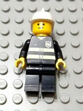 LEGO Town City Fireman Rescue Minifigure with Reflective Jacket Pattern