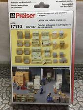 Preiser 17110 HO 1:87; Gitterboxpaletten und Ladegut , OVP