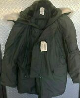 Vintage NOS US Military Issue Extreme Cold Weather N-3B Parka Jacket Coat w Hood
