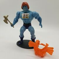 Vintage 1983 MOTU Faker Blue He-Man Figure Soft Head NICE Original Sticker Armor