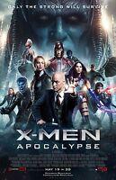 X-Men Apocalypse movie poster (a) James McAvoy, Michael Fassbender