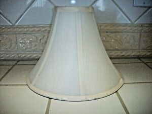 "Slender Bell Lamp Shade Off-White (Uno Fitter) 8.5""X11""X4"" NEW"