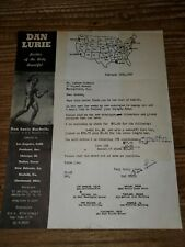 Vintage Weightlifting Bodybuilding Letter Signed by Dan Lurie to Andrew Jackson