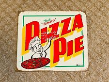 "Old Vtg Mummert Advertising Metal Sign Fresh ""Tomato"" Pizza Pie Colorful Usa"