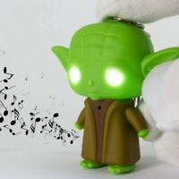 LED Sound Keychain Star Wars Key Jedi Master Yoda keyring LED Yoda keychains Toy