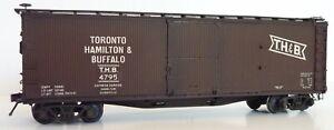THB Toronto Hamilton & Buffalo Westerfield 3851 HO DS Boxcar Assembled Weathered