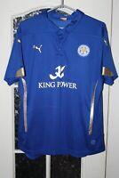 Women Leicester City 2014 2015 Puma  Home Shirt Jersey Trikot Size L