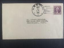 1931 US Navy Post Office Shanghai China Cover to USA USS Tulsa