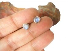 Round  MOONSTONE   Sterling  Silver  925  Gemstone  Stud Earrings  -  5 mm