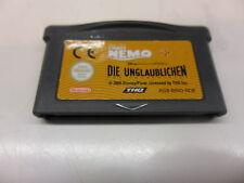 Nintendo Game Boy Advance 2 Games en 1 Nemo/increíble