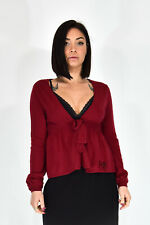 MOSCHINO CHEAP AND CHIC Cardigan Bordeaux Casual TG IT 42 - M Donna Woman