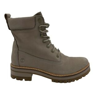 TIMBERLAND COURMAYEUR VALLEY TAUP GREY NUBUCK WOMEN'S LACE UP BOOTS US SIZE 11