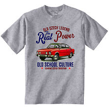 VINTAGE CZECH CAR SKODA 110R 1 - NEW COTTON T-SHIRT