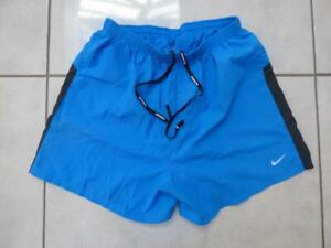 """Mens Nike 15"""" running gym shorts, lined, bright blue colour. Size Medium"""