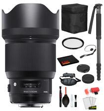 Sigma 85mm f/1.4 DG HSM Art Lens for Nikon F (321955) with Bundle Package Deal