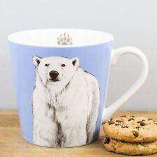 New Churchill China Couture Animal Kingdom Polar Bear Mug Ice Blue Coffee Cup