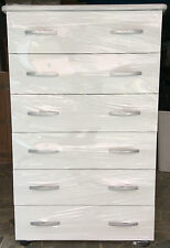 Settimino bianco mobile cassettone in melaminico montato colore bianco cm 75