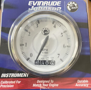 Genuine Rev Counter Tacho Gauge with Warning Lights for Evinrude ETEC Outboard